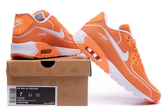 hommes nike air max 90 fireflies 2018 running Chaussures  orange