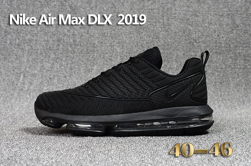 nike hommess air max 2018 running chaussures dlx 2019 cool black