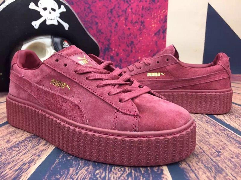 New Chaussures Eight Colors Puma X Rihanna Rouge Creeper