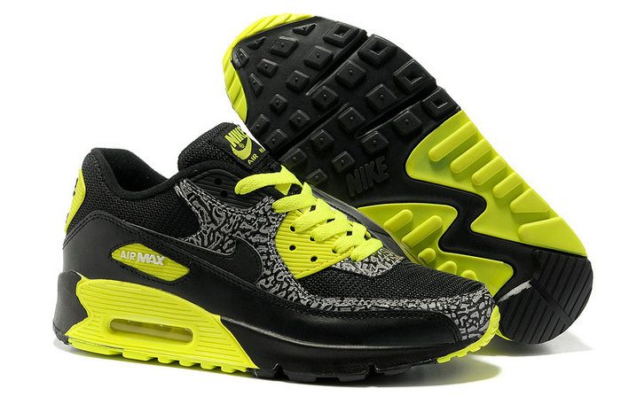 nike air max 90 chaussures cuir noir vert 2013 quickly shipping. Black Bedroom Furniture Sets. Home Design Ideas